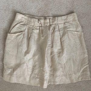 Linen and silk JCrew skirt